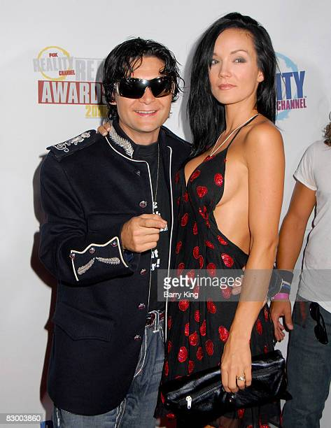 Actor Corey Feldman and wife Susie Feldman arrives at the Fox Reality Channel's Really Awards held at Avalon Hollywood on September 24 2008 in...