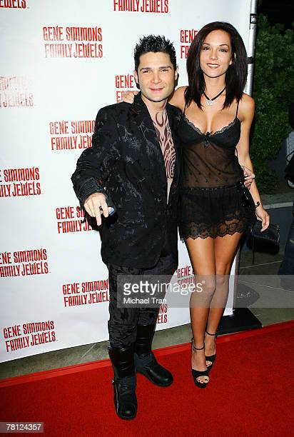 Actor Corey Feldman and wife Susie Feldman arrives at the Gene Simmons Roast held at the Key Club on November 27 2007 in West Hollywood California