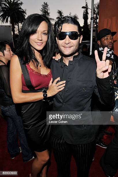 Actor Corey Feldman and wife Susie Feldman attend the 2008 BMI Urban Awards held at the Wilshire Theatre on September 4 2008 in Los Angeles California