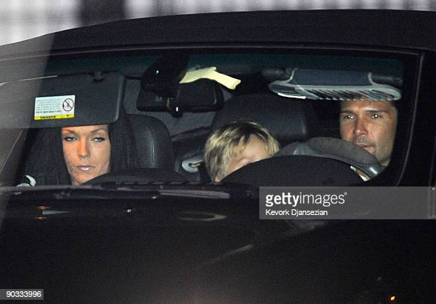 Actor Corey Feldman and wife Susie Feldman depart Michael Jackson's funeral service held at Glendale Forest Lawn Memorial Park on September 3 2009 in...