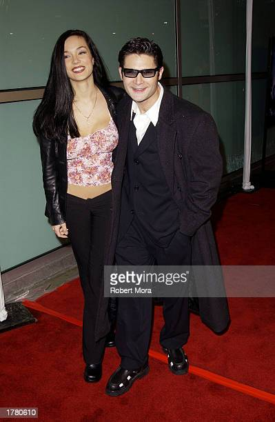 Actor Corey Feldman and wife Susie Sprague attend the world premiere of Dark Blue at the Arclight Cinerama Dome on February 12 2003 in Hollywood...