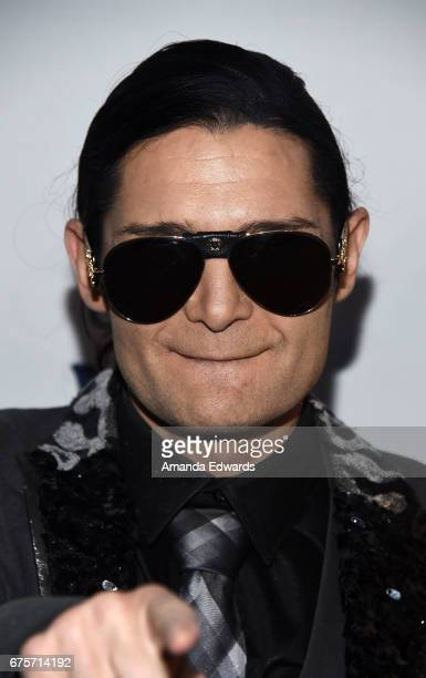 Actor Corey Feldman arrives at Larry King's 60th Broadcasting Anniversary Event at HYDE Sunset Kitchen Cocktails on May 1 2017 in West Hollywood...