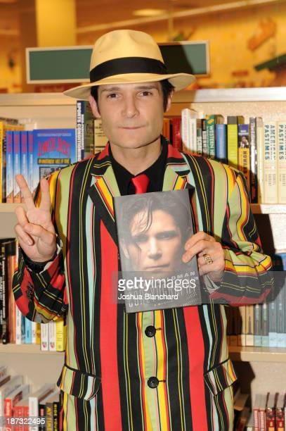 Actor Corey Feldman attends his book signing at Barnes Noble bookstore at The Grove on November 7 2013 in Los Angeles California