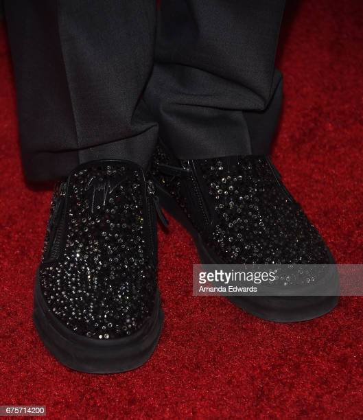 Actor Corey Feldman shoe detail arrives at Larry King's 60th Broadcasting Anniversary Event at HYDE Sunset Kitchen Cocktails on May 1 2017 in West...