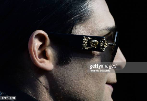 Actor Corey Feldman sunglasses detail arrives at Larry King's 60th Broadcasting Anniversary Event at HYDE Sunset Kitchen Cocktails on May 1 2017 in...