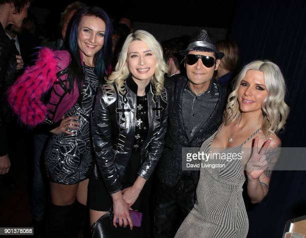 Actor Corey Feldman wife model Courtney Anne Mitchell and guests attend a screening of A Tale of Two Coreys at ArcLight Sherman Oaks on January 4...