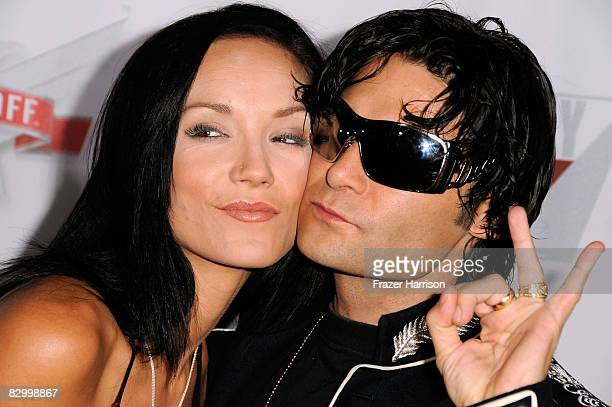 Actor Corey Feldman with wife Susie Feldman at the Fox Reality Channel Really Awards on September 24 2008 at the Avalon Hollywood club in Hollywood...