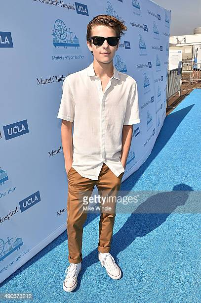 Actor Corey Fogelmanis attends the Mattel Party On The Pier at Santa Monica Pier on September 27 2015 in Santa Monica California