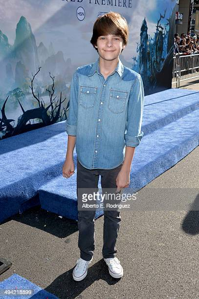 Actor Corey Fogelmanis attends the World Premiere of Disney's Maleficent starring Angelina Jolie at the El Capitan Theatre on May 28 2014 in...