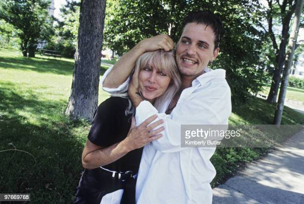Actor Corey Haim and mother Judy Haim pose at a portrait session for self assignment in Quebec City Canada on July 1 2006