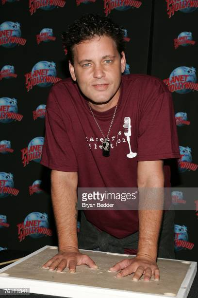 Actor Corey Haim appears at Planet Hollywood Times Square for his handprint ceremony on August 15 2007 in new York City