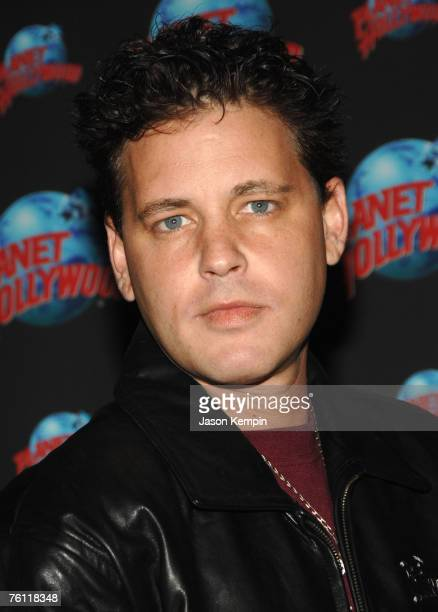 Actor Corey Haim attends a handprint ceremony at Planet Hollwood Times Square on August 15 2007 in New York City