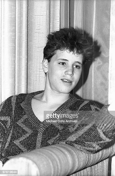 Actor Corey Haim attends a press screening for his movie 'Lucas' on March 13 1986 in New York City New York