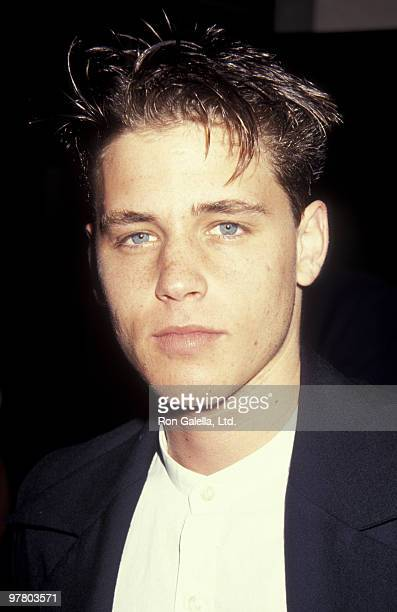 Actor Corey Haim attends Scott Newman Center Benefit Honoring George Schlatter on November 1 1992 at the Beverly Hilton Hotel in Beverly Hills...