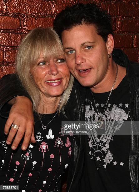 Actor Corey Haim poses with his mother Judy Haim at the AE Premiere Of 'The Two Coreys' held at Sugar nightclub on July 27 2007 in Hollywood...