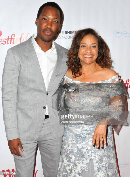 Actor Corey Hawkins and Debbie Allen attend Sunday Matinee of 'Turn Me Loose' at Wallis Annenberg Center for the Performing Arts on October 15 2017...