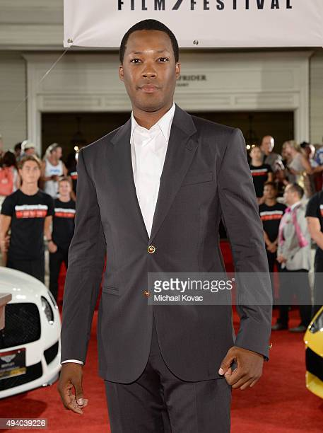 Actor Corey Hawkins arrives at the 6th Annual Hawaii European Cinema Film Festival Awards Gala at The Moana Surfrider on October 23 2015 in Waikiki...