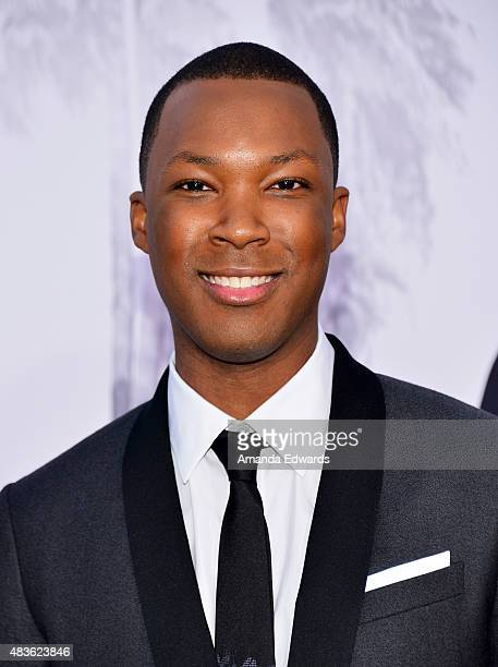 Actor Corey Hawkins arrives at the world premiere of Universal Pictures and Legendary Pictures' 'Straight Outta Compton' at the Microsoft Theater on...
