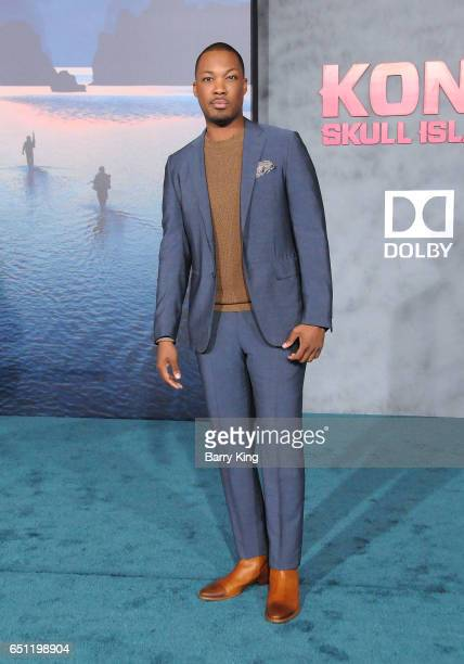 Actor Corey Hawkins arrives for the Premiere of Warner Bros Pictures' 'Kong Skull Island' at Dolby Theatre on March 8 2017 in Hollywood California
