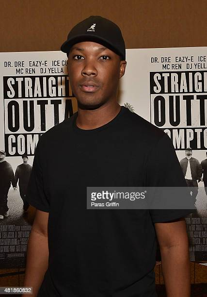 Actor Corey Hawkins attend 'Straight Outta Compton' VIP Screening With Director/ Producer F Gary Gray Producer Ice Cube Executive Producer Will...