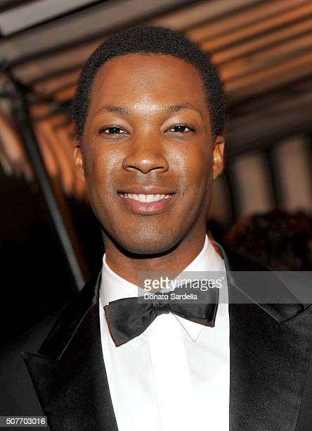 Actor Corey Hawkins attends A Toast To Regina King Hosted By Revolt Entertainment SnapStyle at Chateau Marmont on January 30 2016 in Los Angeles...