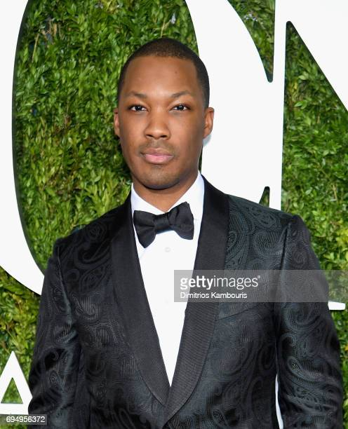 Actor Corey Hawkins attends the 2017 Tony Awards at Radio City Music Hall on June 11 2017 in New York City