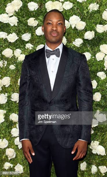 Actor Corey Hawkins attends the 71st Annual Tony Awards at Radio City Music Hall on June 11 2017 in New York City
