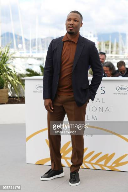 Actor Corey Hawkins attends the photocall for 'BlacKkKlansman' during the 71st annual Cannes Film Festival at Palais des Festivals on May 15 2018 in...