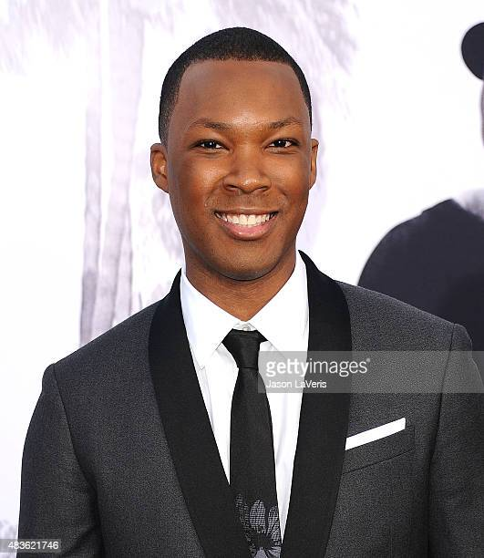 Actor Corey Hawkins attends the premiere of Straight Outta Compton at Microsoft Theater on August 10 2015 in Los Angeles California