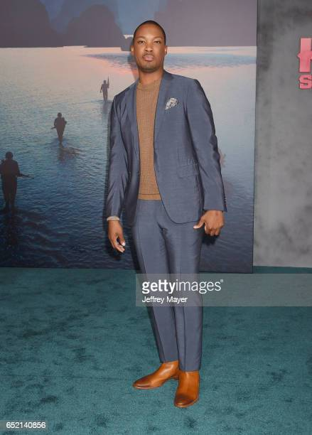 Actor Corey Hawkins attends the premiere of Warner Bros Pictures' 'Kong Skull Island' at the Dolby Theatre on March 8 2017 in Hollywood California