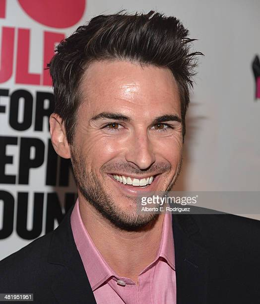 Actor Corey Saunders attends the premiere of Screen Media Films' 10 Rules For Sleeping Around at the Egyptian Theatre on April 1 2014 in Hollywood...