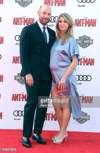 Actor Corey Stoll and his wife Nadia Bowers attend the premiere of Marvel's 'AntMan' at the Dolby Theatre on June 29 2015 in Hollywood California