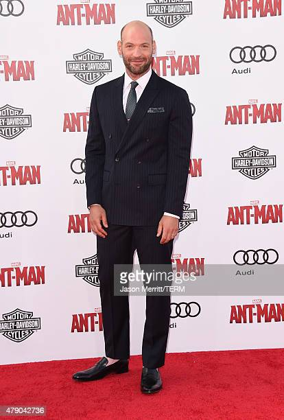 Actor Corey Stoll arrives at the Los Angeles Premiere of Marvel Studios 'AntMan' at Dolby Theatre on June 29 2015 in Hollywood California