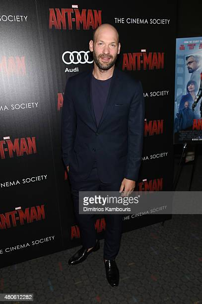 Actor Corey Stoll attends Marvel's screening of AntMan hosted by The Cinema Society and Audi at SVA Theater on July 13 2015 in New York City