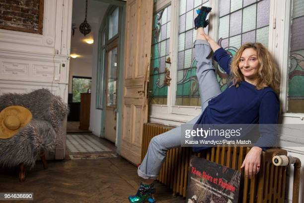 Actor Corinne Masiero is photographed for Paris Match at her home in Roubaix on March 10 2018