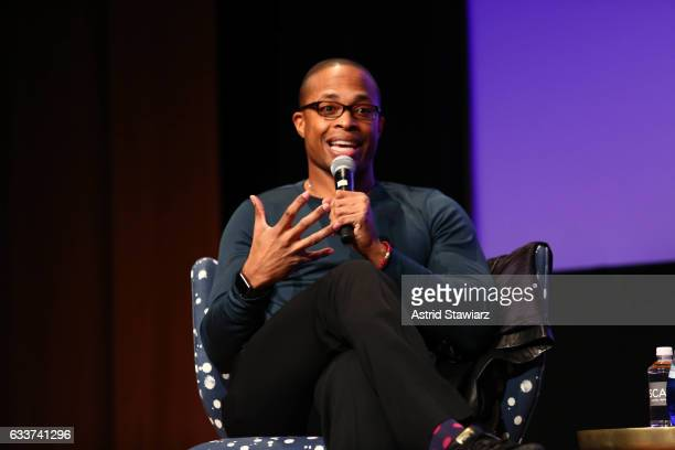 Actor Cornelius Smith Jr speaks at a QA for 'Scandal' during Day Two of the aTVfest 2017 presented by SCAD at SCADshow on February 3 2017 in Atlanta...