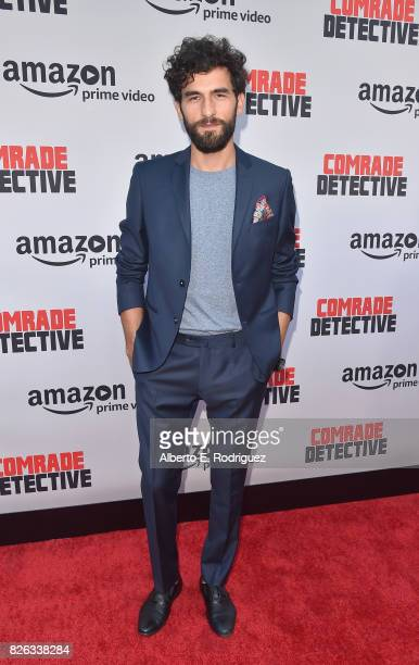"""Actor Cornilieu Ulici attends the premiere of Amazon's """"Comrade Detective"""" at ArcLight Hollywood on August 3, 2017 in Hollywood, California."""