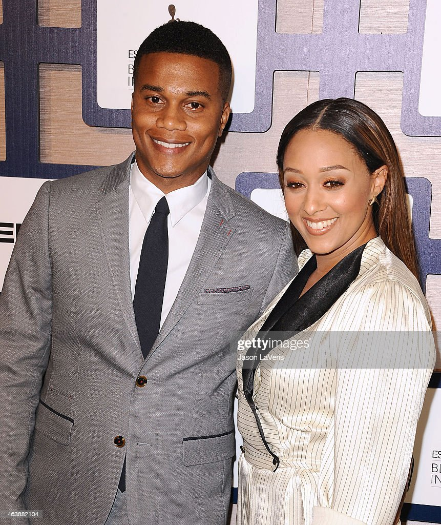 Actor Cory Hardrict and actress Tia Mowry attend the 8th annual ESSENCE Black Women In Hollywood luncheon at the Beverly Wilshire Four Seasons Hotel on February 19, 2015 in Beverly Hills, California.