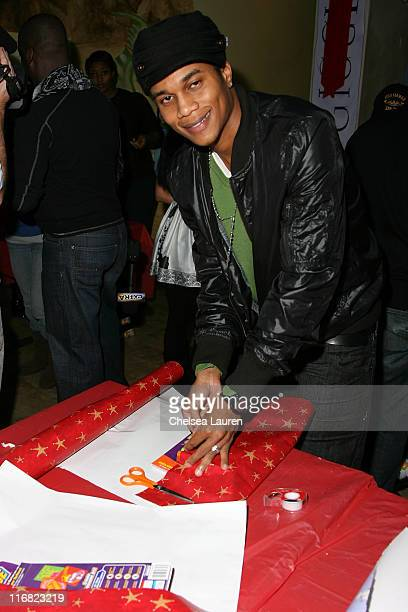 Actor Cory Hardrict attends Baskin Robbins' 'Wrapped with a Bow' Charity Event at Giggles 'n Hugs on December 5 2008 in Los Angeles California