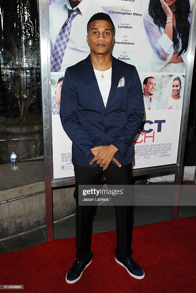 Actor Cory Hardrict attends the premiere of 'The Perfect Match' at ArcLight Hollywood on March 7, 2016 in Hollywood, California.