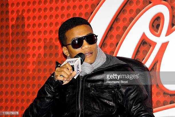 Actor Cory Hardrict is interviewed in the WGCIFM 'CocaCola Lounge' in Chicago Illinois on MAR 11 2011