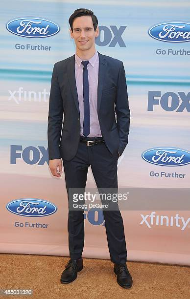 Actor Cory Michael Smith arrives at the 2014 FOX Fall Eco-Casino Party at The Bungalow on September 8, 2014 in Santa Monica, California.
