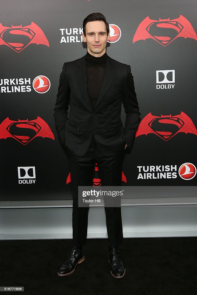 Actor Cory Michael Smith attends the 'Batman v. Superman: Dawn of Justice' premiere at Radio City Music Hall on March 20, 2016 in New York City.
