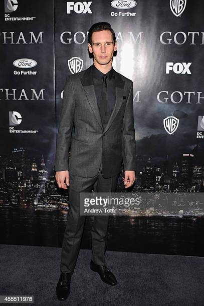 """Actor Cory Michael Smith attends the """"Gotham"""" Series Premiere at The New York Public Library on September 15, 2014 in New York City."""