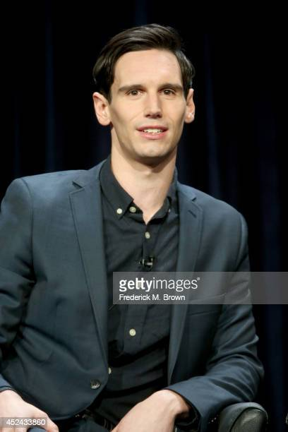 """Actor Cory Michael Smith speaks onstage at the """"Gotham"""" panel during the FOX Network portion of the 2014 Summer Television Critics Association at The..."""