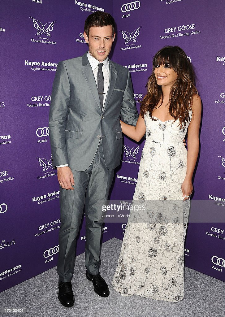 Actor Cory Monteith and actress Lea Michele attend the 12th annual Chrysalis Butterfly Ball on June 8, 2013 in Los Angeles, California.