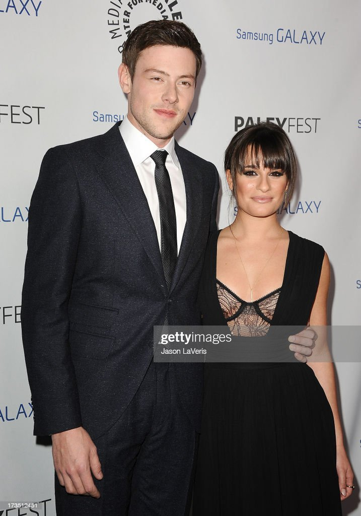 Actor Cory Monteith and actress Lea Michele attend the PaleyFest Icon Award presentation at The Paley Center for Media on February 27, 2013 in Beverly Hills, California.