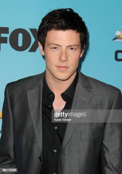 Actor Cory Monteith arrives at Fox's Glee spring premiere soiree held at Bar Marmont on April 12 2010 in Los Angeles California
