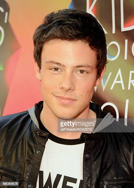 Actor Cory Monteith arrives at Nickelodeon's 23rd Annual Kids' Choice Awards held at UCLA's Pauley Pavilion on March 27 2010 in Los Angeles California