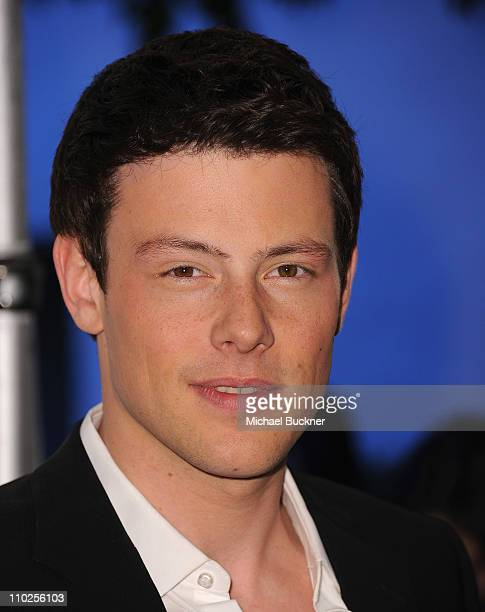Actor Cory Monteith arrives at the Paley Center for Media's Paleyfest 2011 Event honoring Glee at the Saban Theatre on March 16 2011 in Beverly Hills...